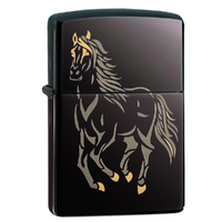 Zippo RUNNING HORSE 28645 Genuine Street Cigar Cigarette Lighter