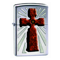 Zippo CROSS 28801 Genuine Street Cigar Cigarette Lighter