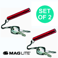 NEW MAGLITE RED 2 X SOLITAIRE FLASHLIGHT MADE IN USA