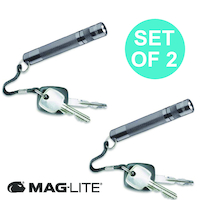NEW MAGLITE PEWTER GREY 2 X SOLITAIRE FLASHLIGHT MADE IN USA