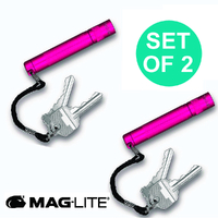 NEW MAGLITE HOT PINK 2 X SOLITAIRE FLASHLIGHT MADE IN USA