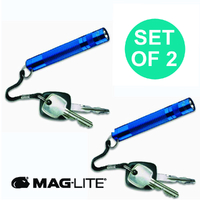 NEW MAGLITE BLUE 2 X SOLITAIRE FLASHLIGHT MADE IN USA