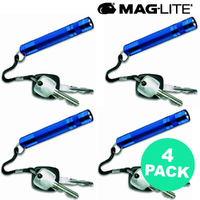 NEW MAGLITE BLUE 4 X SOLITAIRE FLASHLIGHT MADE IN USA