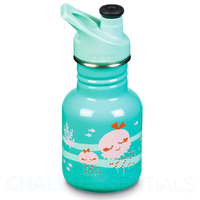 KLEAN KANTEEN KID 355ml 12 oz SPORTS AQUA JELLFISH BPA FREE Water Bottle SAVE !