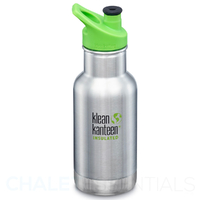 KLEAN KANTEEN KID CLASSIC INSULATED 355ml 12oz SPORTS CAP STAINLESS Bottle