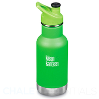 KLEAN KANTEEN KID CLASSIC INSULATED 355ml 12oz SPORTS CAP GREEN LIZARD TAILS Bottle