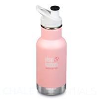 KLEAN KANTEEN KID CLASSIC INSULATED 355ml 12oz SPORTS CAP PINK BALLET SLIPPER Bottle