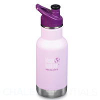 KLEAN KANTEEN KID CLASSIC INSULATED 355ml 12oz SPORTS CAP PURPLE SUGARPLUM FAIRY Bottle