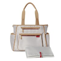 SKIP HOP Grand Central FRENCH STRIPE Take It All Nappy Diaper Baby Bag W/ Changing Mat