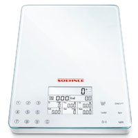 SOEHNLE PAGE COMFORT 200 ROUND DIGITAL 5KG CAPACITY WHITE KITCHEN SCALE 61503