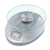 SOEHNLE ROMA SILVER DIGITAL KITCHEN SCALE 5 KG CAPACITY 1 G INCREMENT 65856