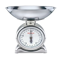 SOEHNLE SILVIA ANALOGUE KITCHEN SCALE RETRO STYLE W/ STAINLESS WEIGHING BOWL