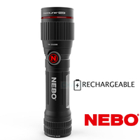 NEBO 89499 REDLINE FLEX 450 Lumen LED Flashlight W/Clip Torch 4 Mode Rechargable