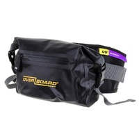 OVERBOARD 2 Litre Pro Light Waterproof Waist Pack Bag Black