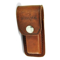 NEW SCHRADE YULS1 Brown Medium Leather Sheath