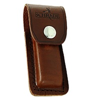 NEW SCHRADE YULS2 Brown Large Leather Sheath