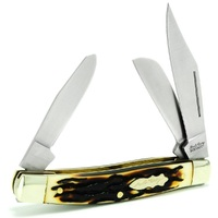 NEW SCHRADE Senior Rancher YU885UH 3 Steel Blade Uncle Henry Pocket knife