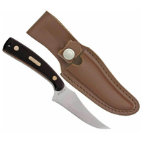 NEW SCHRADE Sharpfinger Fixed Blade Old Timer Knife YU152OT w/ Leather Sheath