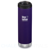 KLEAN KANTEEN TKWIDE INSULATED 20oz 592ml KALAMATA PURPLE W/ Cafe Cap
