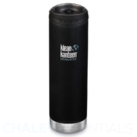 KLEAN KANTEEN TKWIDE INSULATED 20oz 592ml SHALE BLACK W/ Cafe Cap
