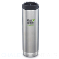 KLEAN KANTEEN TKWIDE INSULATED 20oz 592ml STAINLESS W/ Cafe Cap