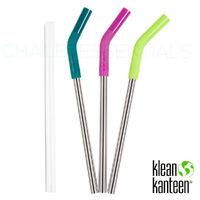 KLEAN KANTEEN 3 Pack Steel Straw Set COLOUR 6164 , Pints & Tumblers , 10mm