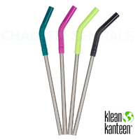KLEAN KANTEEN 4 Pack Steel Straw Set COLOUR 5789 , Pints & Tumblers , 8mm