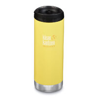 KLEAN KANTEEN TKWIDE INSULATED 16oz 473ml BUTTERCUP YELLOW W/ Cafe Cap
