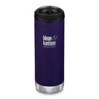 KLEAN KANTEEN TKWIDE INSULATED 16oz 473ml KALAMATA PURPLE W/ Cafe Cap