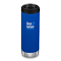 KLEAN KANTEEN TKWIDE INSULATED 16oz 473ml DEEP SURF BLUE W/ Cafe Cap