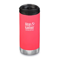 KLEAN KANTEEN TKWIDE INSULATED 12oz 355ml MELON PUNCH W/ Cafe Cap
