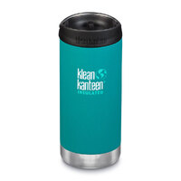 KLEAN KANTEEN TKWIDE INSULATED 12oz 355ml EMERALD BAY W/ Cafe Cap