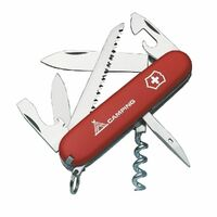 Victorinox SWISS ARMY CAMPER RED Pocket Knife Tool 13 Functions