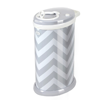 New Nappy Diaper Bin UBBI Pail GREY CHEVRON Eco Friendly