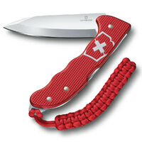 VICTORINOX SWISS ARMY Knife HUNTER PRO Alox RED Pocket Knife Clip & Lanyard 35249