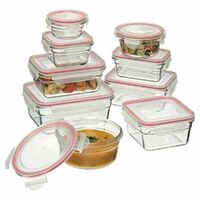 GLASSLOCK Tempered Glass Oven Safe Container Set W/ Lid Oven 9pc 28060