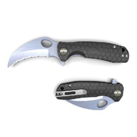 Honey Badger Claw Small BLACK Serrated Blade Folding Pocket Knife YHB1151