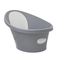 Shnuggle Baby Bath w/ Backrest & Bum Bump Support Dark Grey Free Ship