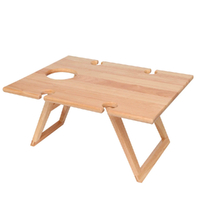 STANLEY ROGERS Folding Rectangle Travel Picnic Timber Table Wood Wine