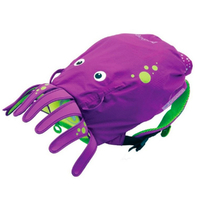 New TRUNKI PaddlePak Waterproof Medium Swim Backpack - INKY PURPLE Octopus