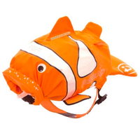 New TRUNKI PaddlePak Waterproof Medium Swim Backpack - CHUCKLES Clown Fish