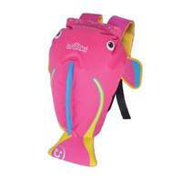 New TRUNKI PaddlePak Waterproof Medium Swim Backpack - CORAL PINK Fish
