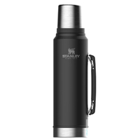 STANLEY CLASSIC Vacuum Insulated 1L BLACK Flask Thermos Bottle