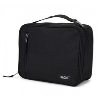 NEW PACKIT VERTICAL COOLER LUNCH BAG FREEZE AND GO - BLACK PACK IT USA DESIGN