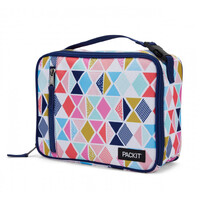 NEW PACKIT VERTICAL COOLER LUNCH BAG FREEZE AND GO - FESTIVE GEM PACK IT USA DESIGN