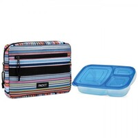 PACKIT BENTO LUNCH BOX COOLER LUNCH BAG FREEZE AND GO - BLANKET STRIPE