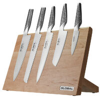 New Global TAKUMI 6pc Maple Magnetic Knife Block Set Knives 6 Piece Japanese