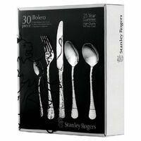 New STANLEY ROGERS BOLERO 30 Piece Stainless Steel 30pc Cutlery Set