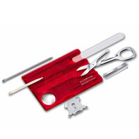 New Victorinox Swiss Army Swisscard NAILCARE , RED , 13 Tools