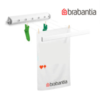 BRABANTIA INDOOR Retractable 22M Pull Out Clothes Airer Line 09028 White